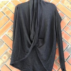 Lululemon Iconic Sweater Wrap in Dark Grey